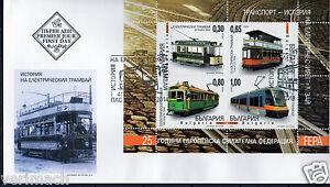 BULGARIA 2014  TRAM TRAMS 25th ANNIVERSARY FEPA FDC