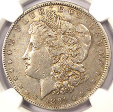 1891-O VAM-3A Weak E Clash Morgan Silver Dollar $1 - NGC XF45 - $700 Value in XF