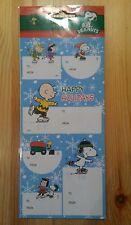 !! Snoopy / Peanuts - 12 Aufkleber Sticker Geschenkaufkleber Gift tag/ Neu & OVP