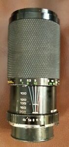 SOLIGOR ZOOM+MACRO 80-200mm 1:4.5  Mount for Minolta Lens No. 382054230