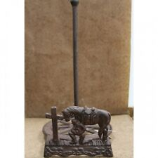 Cast Iron Praying Cowboy At The Cross Paper Towel Holder ~ Brand New