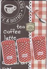 TEA COFFEE LATTE - PLAQUE EN METAL - 30 x 20 CM BAR CAFE BISTROT - 100% NEUF