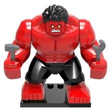 MARVEL Rosso HULK minifigura Custom Mini figura si adatta LEGO
