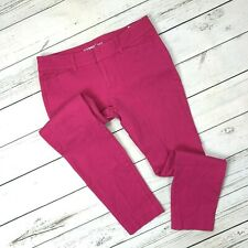 Old Navy Pixie Pants Size 4 Womens Punk Pink Skinny Ankle Crop Stretch Mid Rise