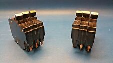 "Lot of 6 Federal Pacific 1 Pole 20 & 15 Amp 1/2"" Thin Breakers Copper Terminals"