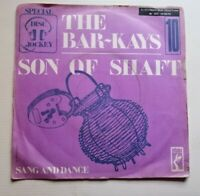 """The Bar-Kays: Son Of Shaft / Sang & Dance 7 """" 45T Special D.J 10 / Stax 2025 081"""