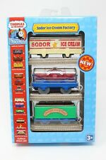 THOMAS AND FRIENDS TRACKMASTER SODOR ICE CREAM FACTORY TRAIN CARS TOY