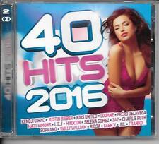 2 CD COMPIL 40 TITRES--40 HITS 2016--KENJI/NIEBER/LOUANE/DELAVEGA/JUL/SOPRANO...