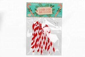 Candy Striped Cane Retro Pack 10 Xmas Tree Christmas Decoration
