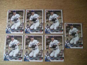 WALKER BUEHLER 7 card rookie lot 2018 Bowman #59 RC Dodgers