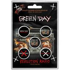 Green Day Official Revolution Radio Pack Of Five Button Badge Pin Rock Band