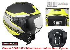 Casco JET Con Visiera Sagomata CGM 107X Manchester Nero Opaco Taglia M 57/58 cm