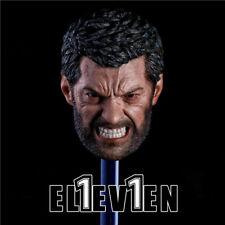 Eleven 1:6 Angry Logan Head Wolverine Hugh Head Sculpt  Ver. F 12''Action Figure