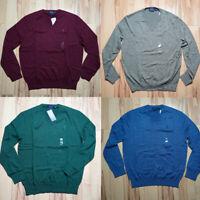 Men Polo Ralph Lauren Pull Over pima Cotton Sweater V Neck - STANDARD FIT