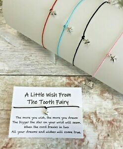 Tooth Fairy Wish Bracelet, Tooth Fairy Gifts, A Little Wish From The Tooth Fairy