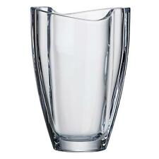 23cm 'Smile' Thick Bohemia Crystal Clear Glass Vase