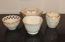 Lenox 4 Ivory Color Decorative Bowls in Different Sizes, Patterns and Shapes
