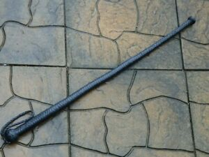 NEW Black Leather BULL WHIP with BALL END - Great Horse Training Tool SJAMBOK