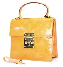 Auth LOUIS VUITTON Spring Street Baby Pink (Orange) Vernis Tote Bag Purse #36787