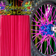 Spoke cover Spoke Tubes Wraps Skins Ribb Speichen Überzug 72 Stck Pink Rainbow