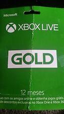 Microsoft - Xbox Live 12 Month Gold Membership Please Read