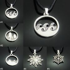 Environment/ Season Silver Tone Pendant Necklace mens ladies jewellery UK SELLER