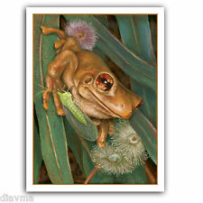 © ART - Painting Realism TREE FROG Wildlife Animal Original artist print by Di