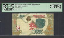 Madagascar 2000 Ariary ND(2017) P101 Uncirculated Grade 70