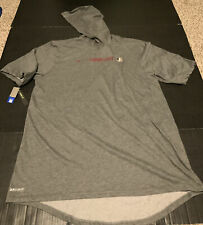Nike Florida State Seminoles Dri-FIT S/S Hoodie Gray Tee NWT Men's Size: Large