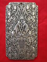 Old tibetan tibet silver guan kwan yin buddha dragon statue nepal thanka AS577