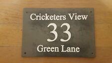 Customised Deep Engraved Slate Door House Name Number Street Sign Plaque