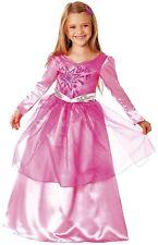 Costume Bambini Barbie dell'anno abito principessa PINK ROSA RAGAZZA CARNEVALE