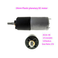 DC 3V/6V/9V 24mm Sophisticated Plastic Planetary DC Gear Geared Motor Low Speed