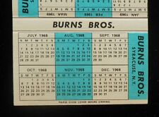 1968 Calendar Burns Bros. Heating Plumbing Pumps Bulldozer Syracuse Ny Onondaga