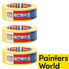 3 x 38mm Tesa Yellow Masking Tape 4334