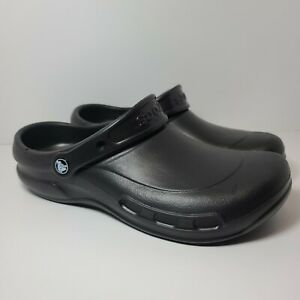 Crocs 'Bistro' Work Clogs Mens Size 11 Color Black