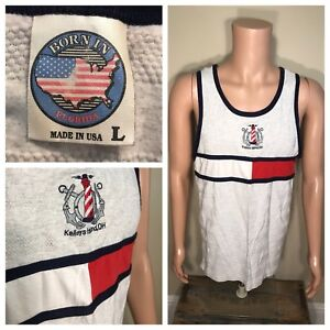 Vintage 90's Bootleg Tommy Hilfiger Sports Kellys Island Ohio Tank top muscle T