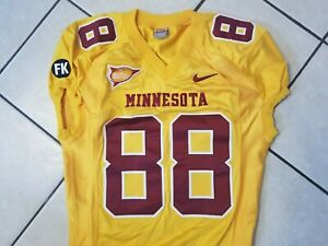 Minnesota Golden Gophers Game Used Worn 2007 Gold Football Jersey #88