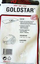 GS98 - 10 sacs pour aspirateur GOLDSTAR V982 CE TE P300 KARCHER TSC 505
