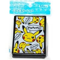 Pokemon TCG Japanese Pikachu Pikachu 64 Card Sleeves Deck Protectors