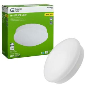 Commercial Electric Spin Light 11 in. LED Flush Mount Ceiling Light High Output