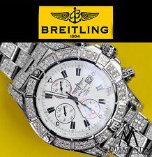 Men's Diamond Breitling Super Avenger Watch White Dial Model A13370