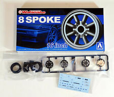 "Aoshima 1/24 RS Watanabe 16"" Wheel & Tire Set For Plastic Models 5248 (09)"