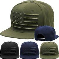 Classic Snapback America US Flag Baseball Cap Plain Blank Snap Back Hat Casual