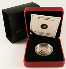 CANADA 2012 PROOF ASTER WITH GLASS BUMBLE BEE $20 - 99.99% FINE SILVER COIN