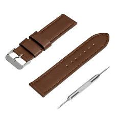Universal Uhren Lederarmband für Stegbreite 22mm, Uhrenarmband Leder dunkelbraun