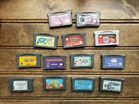 Lot 13 Nintendo Gameboy Advance GBA Games NOT WORKING For Parts or Repair AS IS