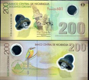 NICARAGUA 200 CORDOBAS 2007 (2009) P 205 POLYMER UNC