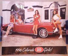 Vintage Beer Poster Advertising Ad 25 x 20 Inches Bud Budweiser Colorado Girls c