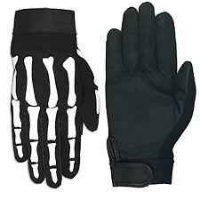 Hot Leathers Skeleton Mechanic Gloves (Black X-Large)